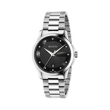 New Gucci G-Timeless Diamond Dial Stainless Steel Men's Watch YA126456
