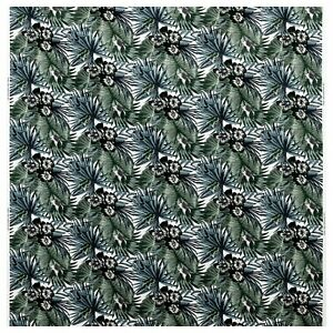IKEA Malin Gyllensvaan Green Botanical Tropical TORGERD Cotton Fabric BTY