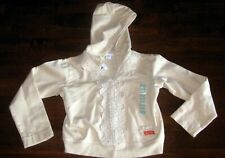 NWT NAARTJIE CREAM /IVORY HOODED JACKET W/ LACE SIZE XXL: 8 HOLIDAY SCHOOL