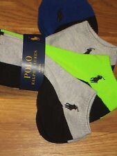 POLO  RALPH LAUREN  WOMENS  SOCKS  NO SHOW CASUAL PONY LOGO 4 PAIRS  NEW