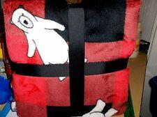Christmas Plaid With Polar Bears,Luxe Warm,Snuggly Throw Blanket.New->50 x 60
