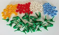 New Lego lot of 112 pieces - Green Plant Flower Stems and Lego Petals