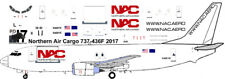 Northern Air Cargo Boeing 737-400 freighter decals for Minicraft 1/144 kit