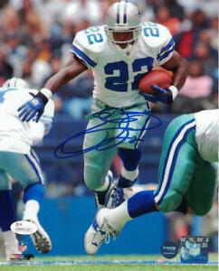 Emmitt Smith Autographed/Signed Dallas Cowboys 8x10 Photo JSA 21885