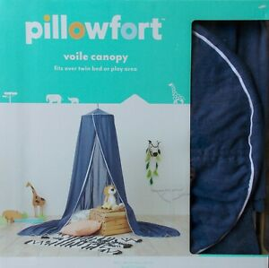 Pillowfort Voile Denim Blue Canopy ~ NEW Over Twin Bed or Play Area