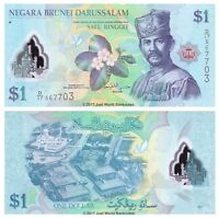 Brunei 1 Ringgit 2011 Polymer P-35 Banknotes UNC