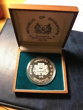** SINGAPORE 1976 , 10 DOLLARS SILVER PROOF ......LOW MINTED 1O K. **