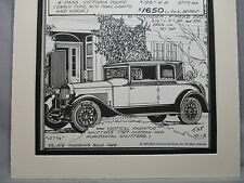 1928 Hudson Victoria    Auto Pen Ink Hand Drawn  Poster Automotive Museum