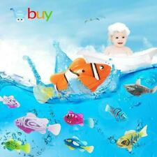 5Pcs Interactive Cat Toy Swimming Robot Fish with LED Light Water Activated