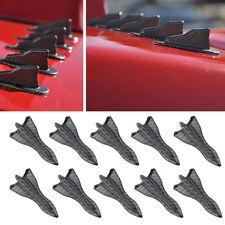 10x Carbon Fiber Look Vortex Universal EVO-Style PP Roof Shark Fins Spoiler Wing