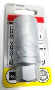 """Steckschlüssel Einsatz 3/8"""" x 21 mm  Zündkerze - Chrom Vanadium - Connex"""