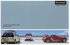 PROSPEKT 2005 SMART Accessories Accessori brochure auto prospetto auto automobili GERMANY