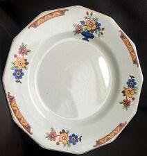 """Rare Antique Art Deco Empire Ware Ivory Glaze English Bone China 9.5""""/24cm Plate"""