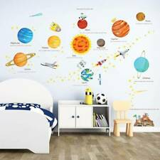 Wall Decal Stickers Solar System Home Room Planets Space Kids Education Decor