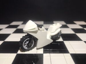 Lego White Motorcycle / Motorbike X1 City / Sports / Minifigure Not Included