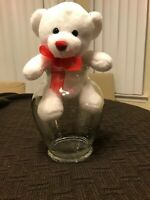 Glass Vase With Teddy Bear