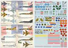Print Scale 72-373 - 1/72 Dassault Mirage F.1 Part-1, wet dry decal for aircraft