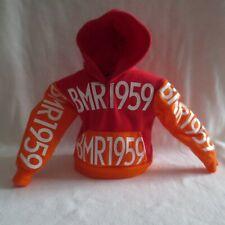 New! Barbie Bmr1959 Made To Move Ken Doll Orange Red Hoodie Sweatshirt Clothing