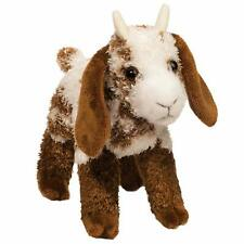 "Bodhi Douglas 8"" stuffed animal GOAT WHITE BROWN SPOTS plush cuddle toy"