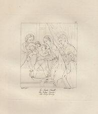 1803 Raffaello incisione in acciaio La Santa Famiglia