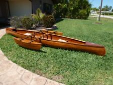 Cedar Strip Wood Canoe 17' with Outriggers - Handmade and Lovingly Restored - FL