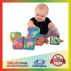 Galt Toys Soft Blocks Stacking Toy Ages 6 Months Plus NEW