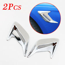 Chrome Car Front Fender Corner Intake Grille Sticker Air Flow Vent Cover Trim 2X