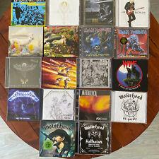 Lot 18 CD rock/metal (Iron Maiden, Metallica, Motorhead, Judas Priest,...)