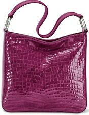 Nwtbrighton Cher Shoulderbag Purse Bag Purple Guavaberry Croc Leather