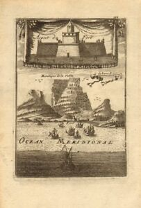 CAPE TOWN. Castle & Cape of Good Hope. Table Mountain. South Africa. MALLET 1683