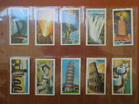 1971 Wilcocks Tea WONDERS OF THE WORLD pyramid landmarks card Trading 25 cards