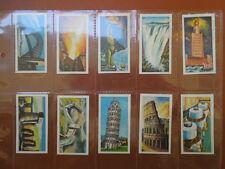 1971 Wilcocks Tea Wonders Of The World pyramid landmarks card Trading 25 cards