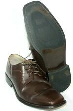 ZENGARA MEN'S DRESS SHOES Size 15M Brown Oxford Lace Up Leather Upper