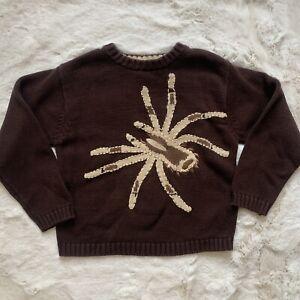 GUC Organically Grown Kids Brown Sweater Spider 100% Cotton Boys Size 7