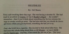 """NICOTINE FIT- THE SHORT STORY THAT INSPIRED """"SORDID LIVES"""""""