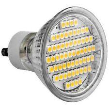 5 X LAMPADA LED ATTACCO GU10 GU 10 FARETTO 60 LED SMD 3528 LUCE BIANCO FREDDO 3W