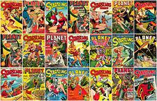 Comic Platinum Age Collage A1 High Quality Canvas Print