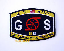 GAS TURBINE SYSTEM TECHNICIAN GS RATING HAT PATCH USS US NAVY PIN UP VETERAN WOW