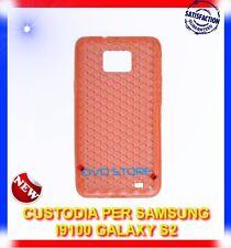 Pellicola+Custodia EXA ARANCIONE per Samsung I9100 galaxy s2 plus I9105