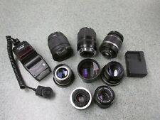 Vintage Camera Lenses  Bundle w/ bag See Pictures