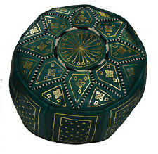 Moroccan Handmade 100% Leather Pouf Pooff Pouff Hassack Ottoman Footstool New