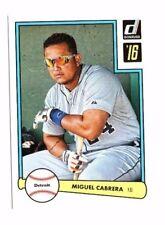 Miguel Cabrera 2016 PANINI DONRUSS, 1982 diseño, Baseball cartas