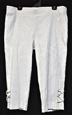 TS pants TAKING SHAPE plus sz L / 22 Tango Crop Pant stretch textured white NWT!