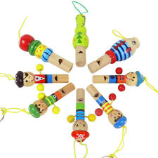 Baby Wooden Cartoon Animal Whistle Toy Educational Music Instrument Toy
