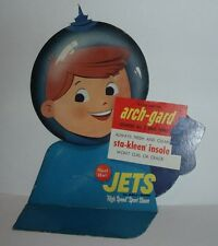 1960's Red Ball Jets Shoes Space Kid Store Display Outerspace Rocket Astronaut