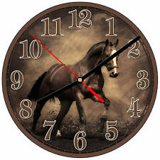 "8"" WALL CLOCK - Horse 1 Horses Equestrian - Kitchen Office Bathroom Bar Bedroom"