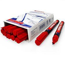 Edding 370 Permanent Marker Pen – 1mm Bullet Tip – Red – Pack of 10