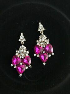 EARRINGS Hot Pink Swarovski Elements