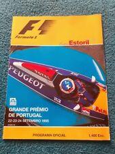 More details for 1995 portuguese grand prix. estoril. official large programme. formula one