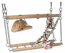 SUSPENSION BRIDGE WITH 2 LEVELS FOR HAMSTERS & OTHER SMALL ANIMALS